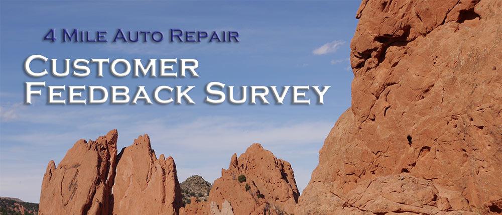 4 mile auto repair customer feedback survey